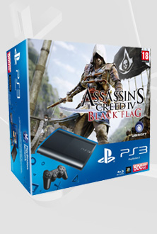 PS3 500GB + Assassins Creed IV: Black Flag paket